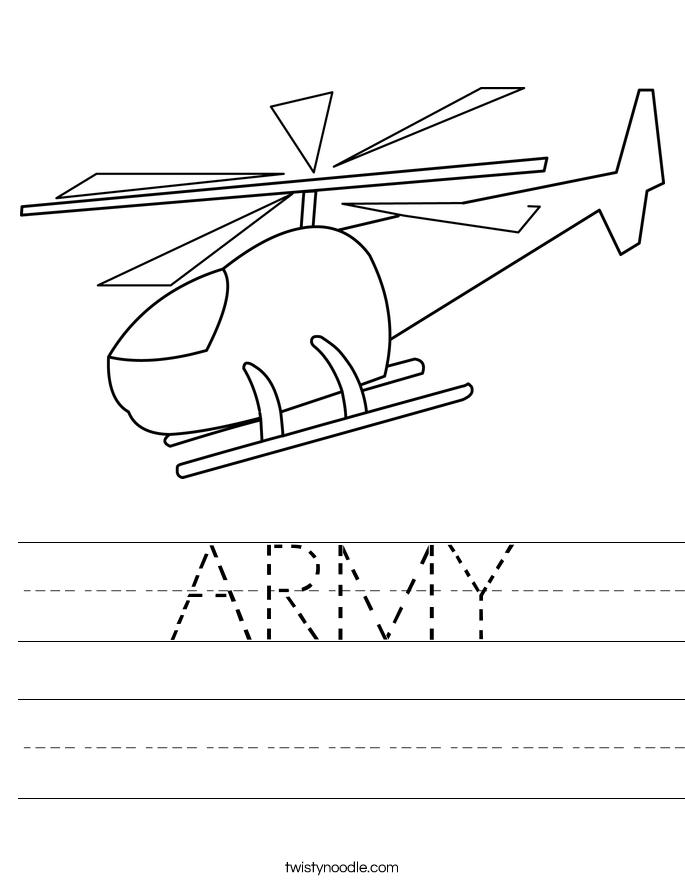 ARMY Worksheet
