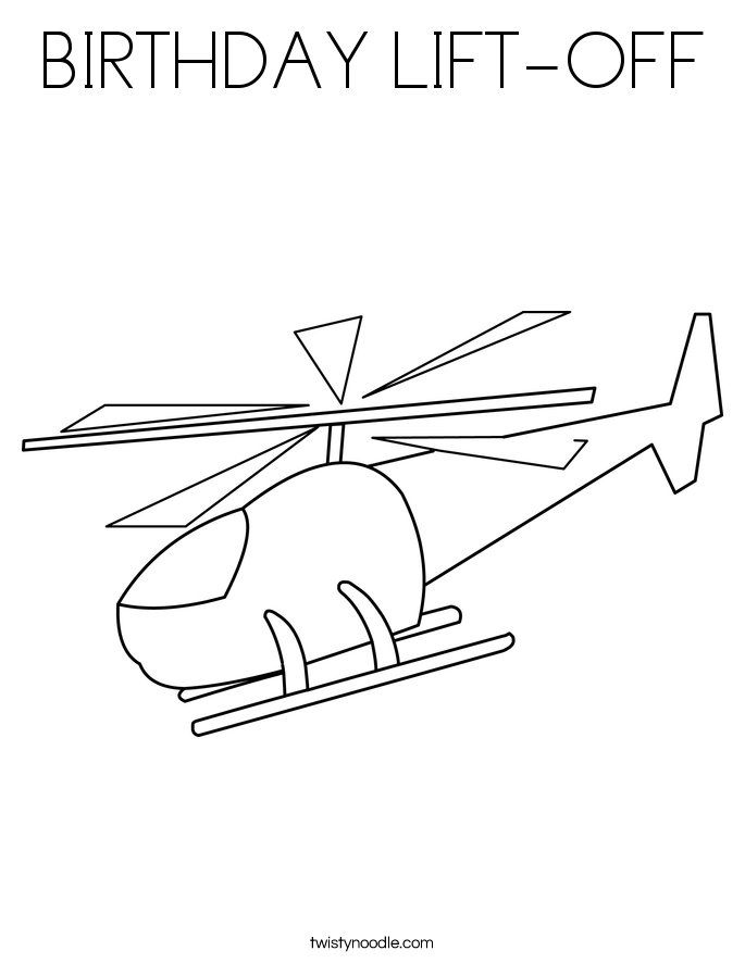 BIRTHDAY LIFT-OFF Coloring Page