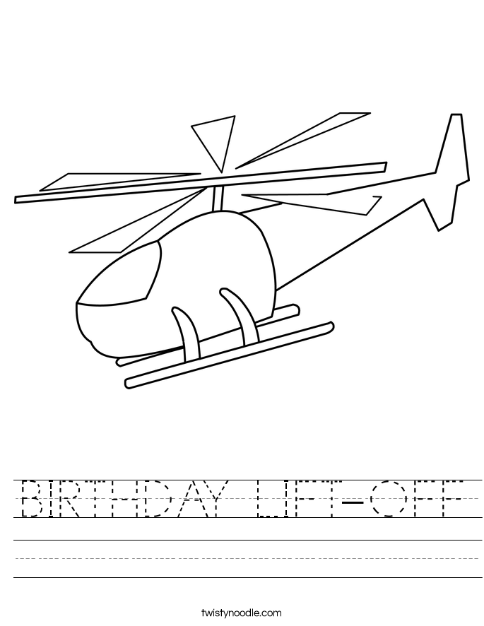 BIRTHDAY LIFT-OFF Worksheet