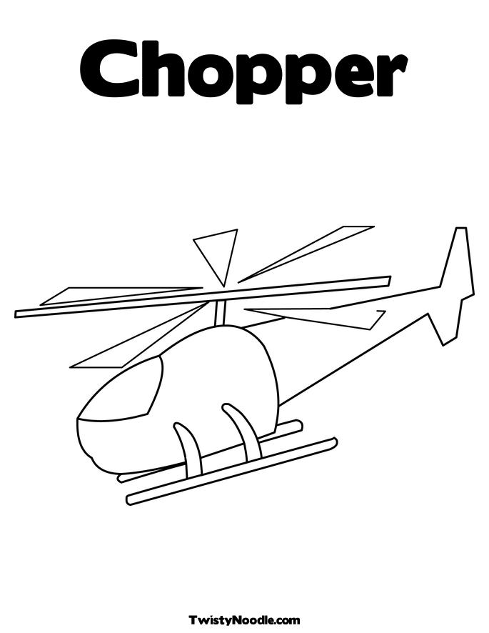 orange coast choppers coloring pages - photo#4