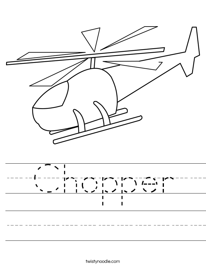 Chopper Worksheet