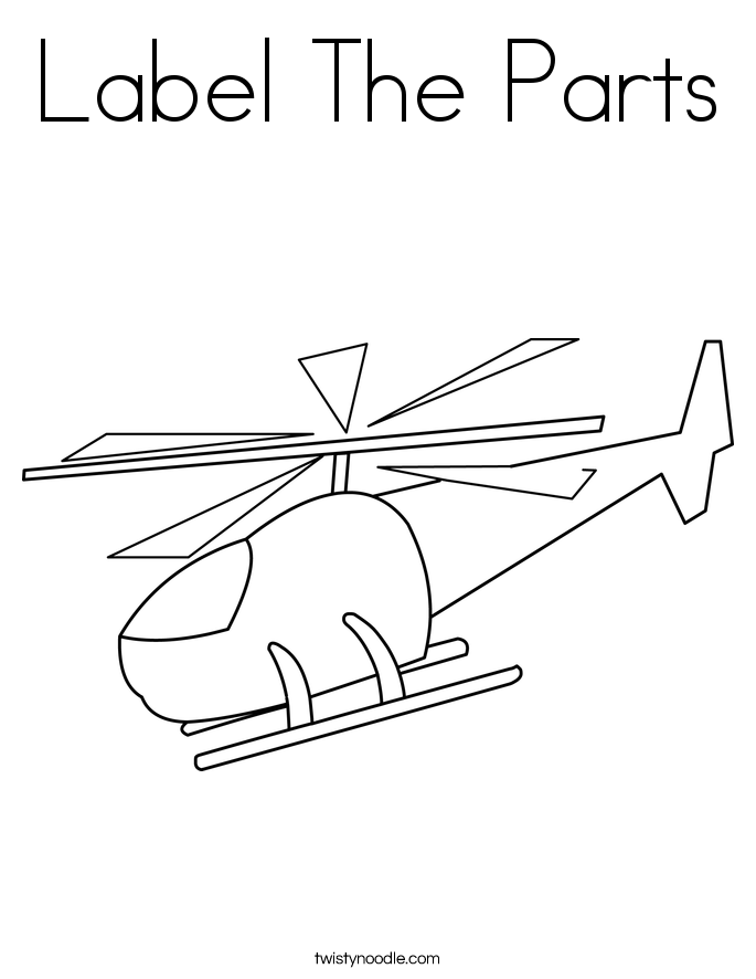 Label The Parts Coloring Page