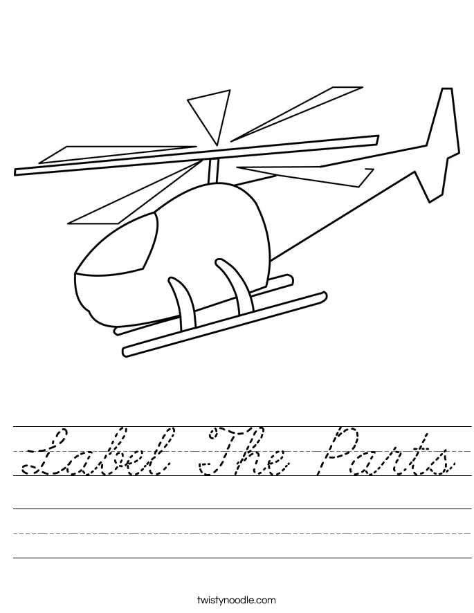 Label The Parts Worksheet