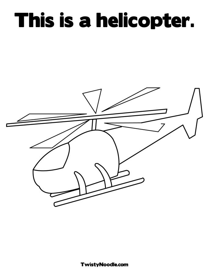 Free Toy Helicopter Coloring Pages
