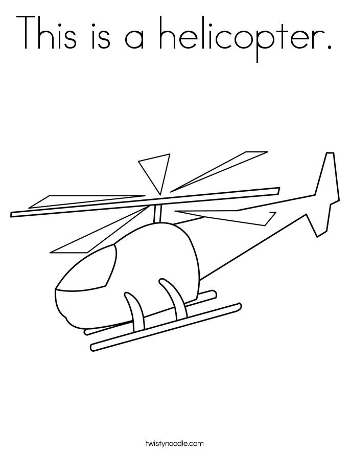 This is a helicopter. Coloring Page