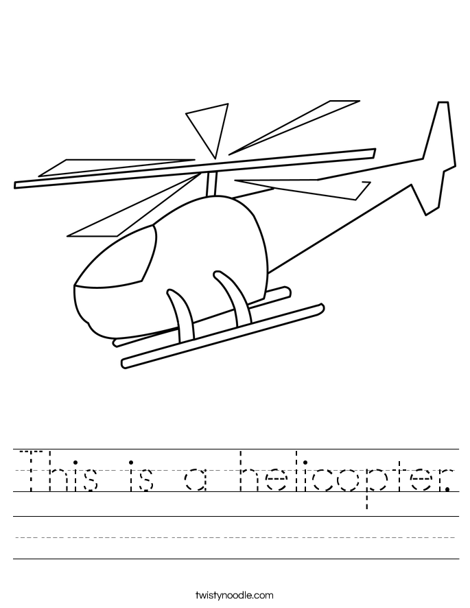 This is a helicopter. Worksheet