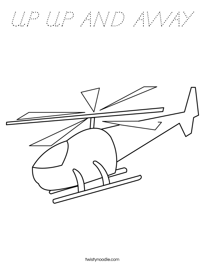 UP UP AND AWAY Coloring Page