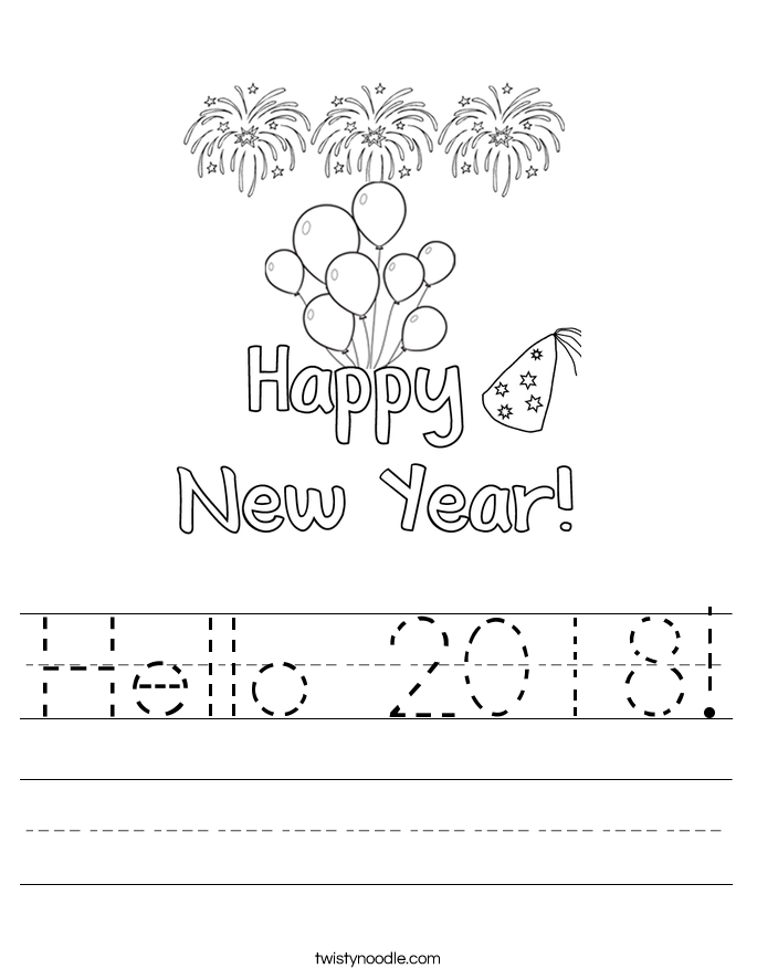 Hello 2018! Worksheet