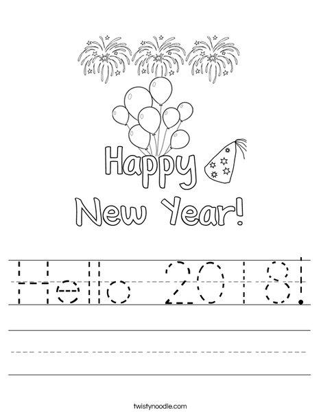 Hello 2016 Worksheet