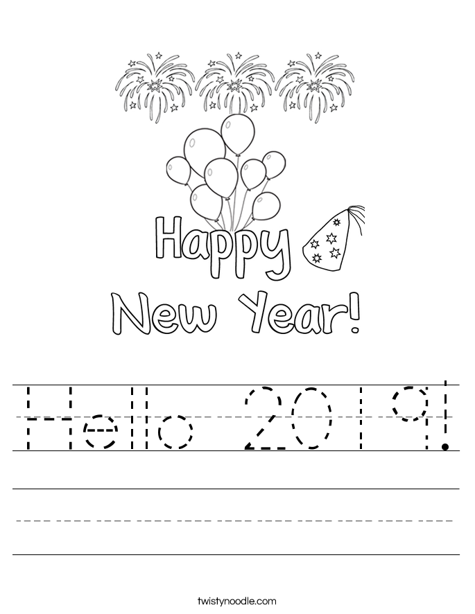 Hello 2019! Worksheet