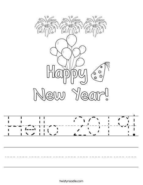 Hello 2016 Worksheet