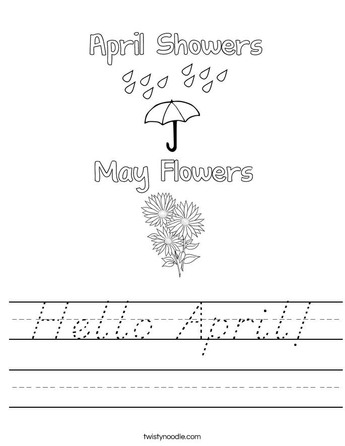 Hello April! Worksheet