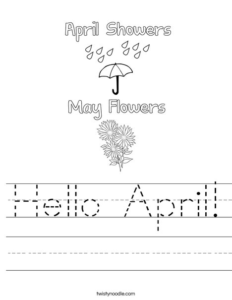 Hello April! Worksheet