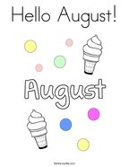 Hello August Coloring Page