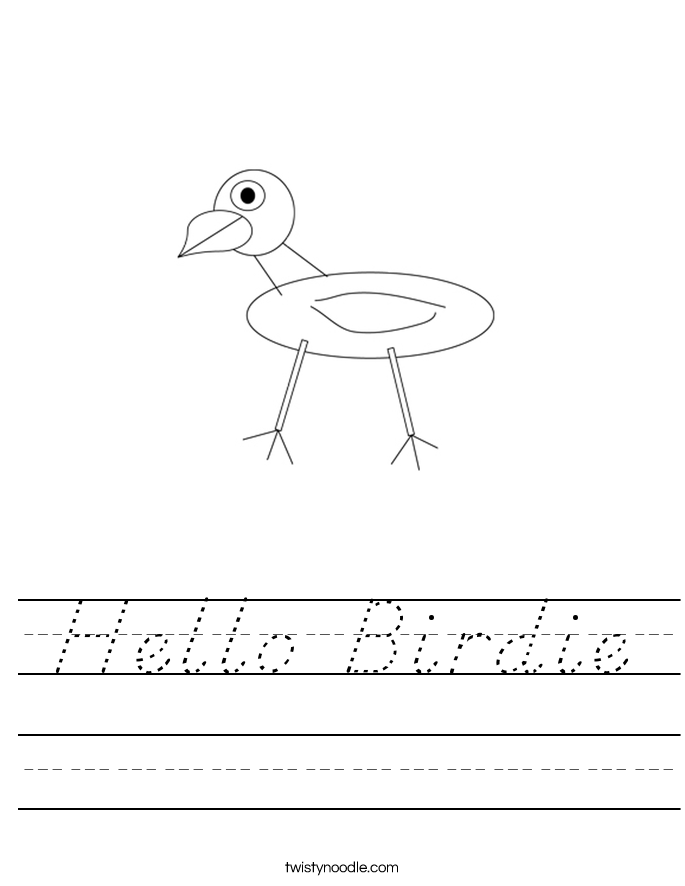 Hello Birdie Worksheet