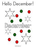 Hello December Coloring Page