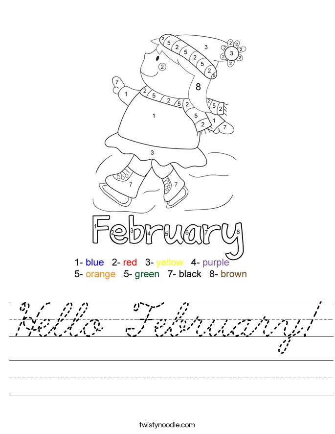 Hello February! Worksheet