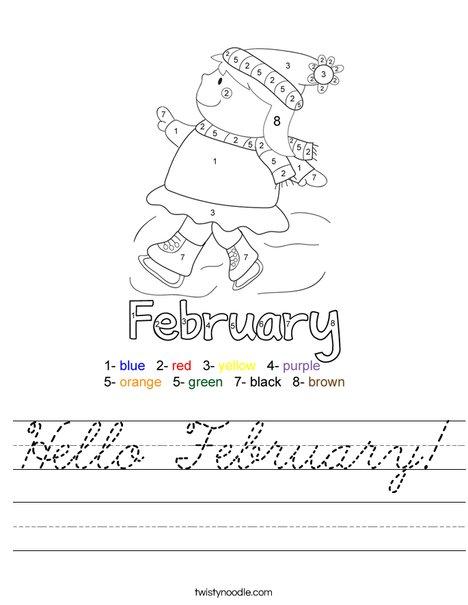 Hello February Worksheet
