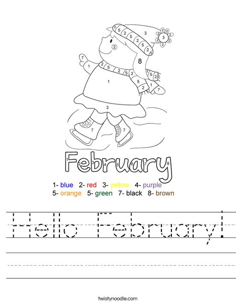 Hello February Worksheet