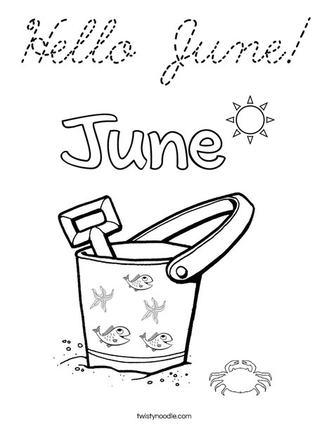 Hello June! Coloring Page
