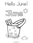 Hello June Coloring Page