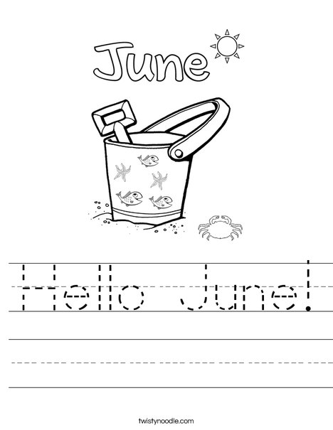 Hello June! Worksheet