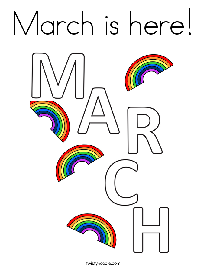 March is here! Coloring Page