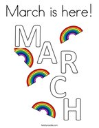March is here Coloring Page