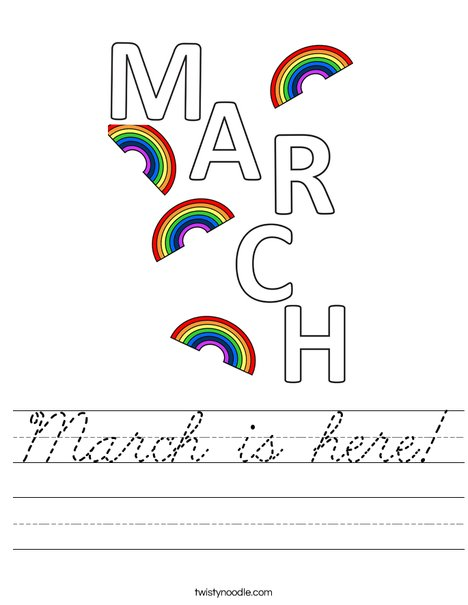 March is Here! Worksheet