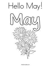 Hello May! Coloring Page
