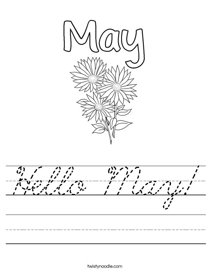Hello May! Worksheet