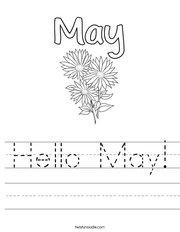Hello May Handwriting Sheet