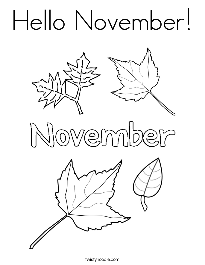 The Gallery For Gt November Coloring Page November Coloring Page