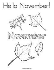 Hello November Coloring Page