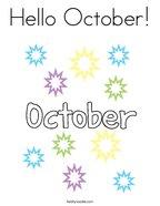 Hello October Coloring Page