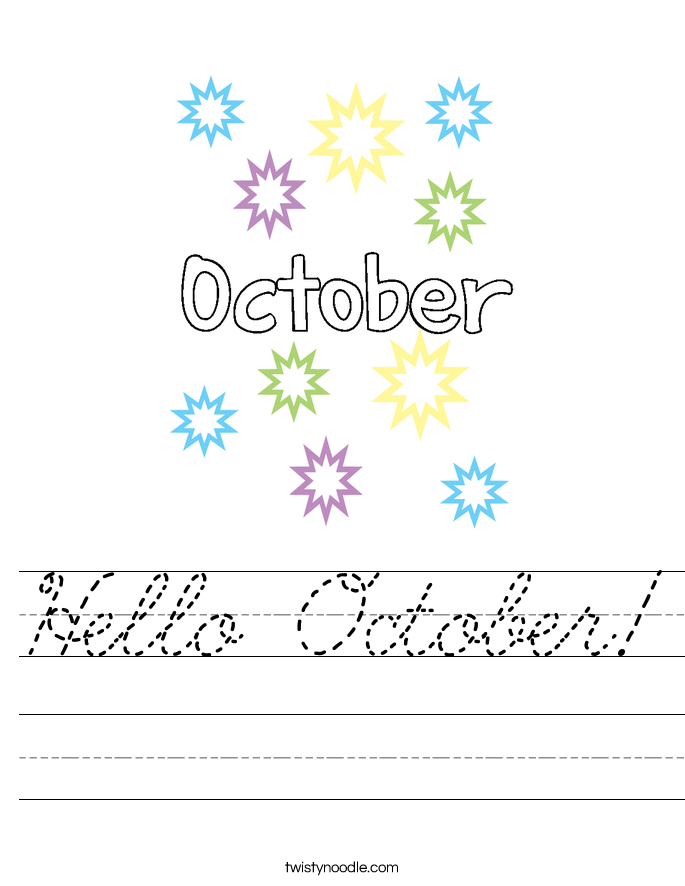 Hello October! Worksheet
