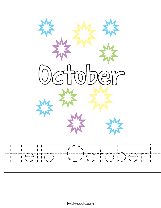 Hello October! Worksheet