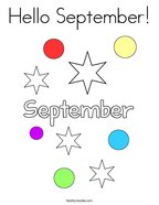 Hello September Coloring Page