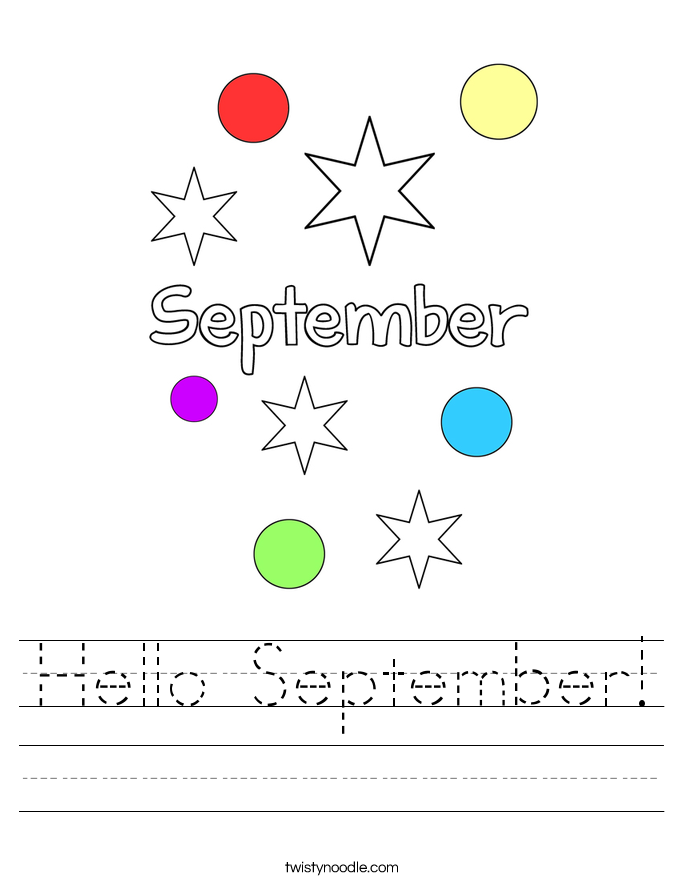 Hello September! Worksheet