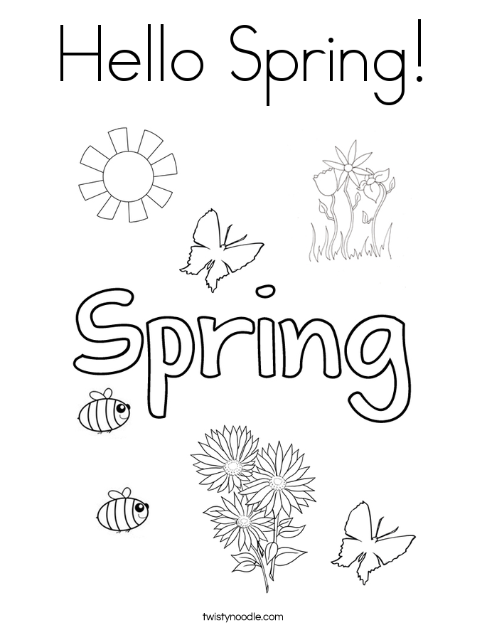 First grade spring coloring pages
