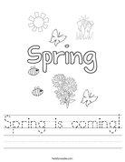 Spring is coming! Worksheet