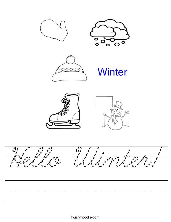 Hello Winter! Worksheet
