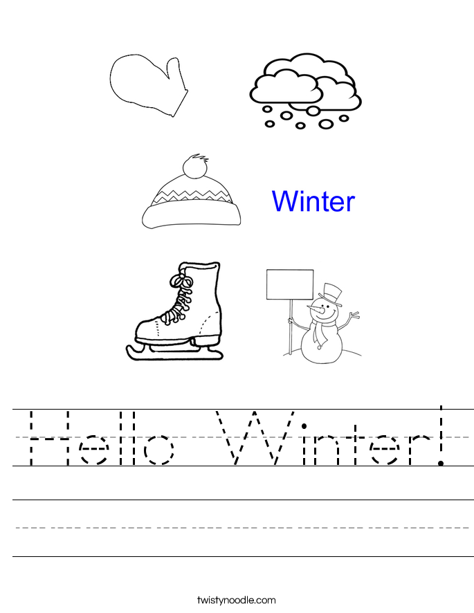 Hello Winter! Worksheet