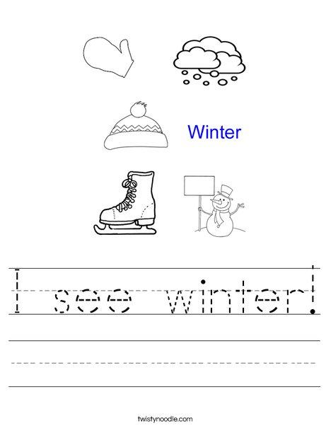 Hello Winter Worksheet