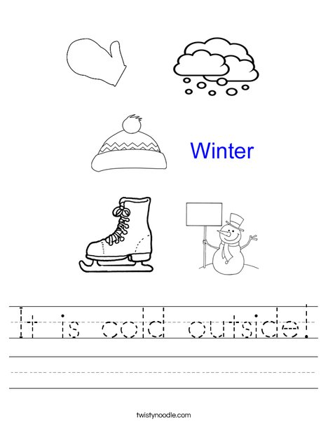 Hello Winter Worksheet