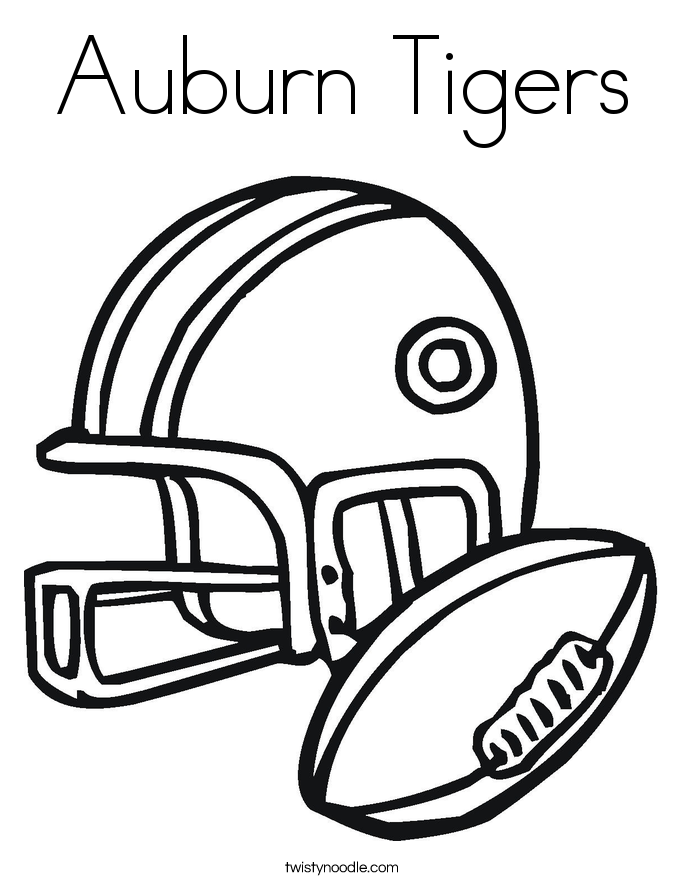 Auburn Tigers Coloring Page