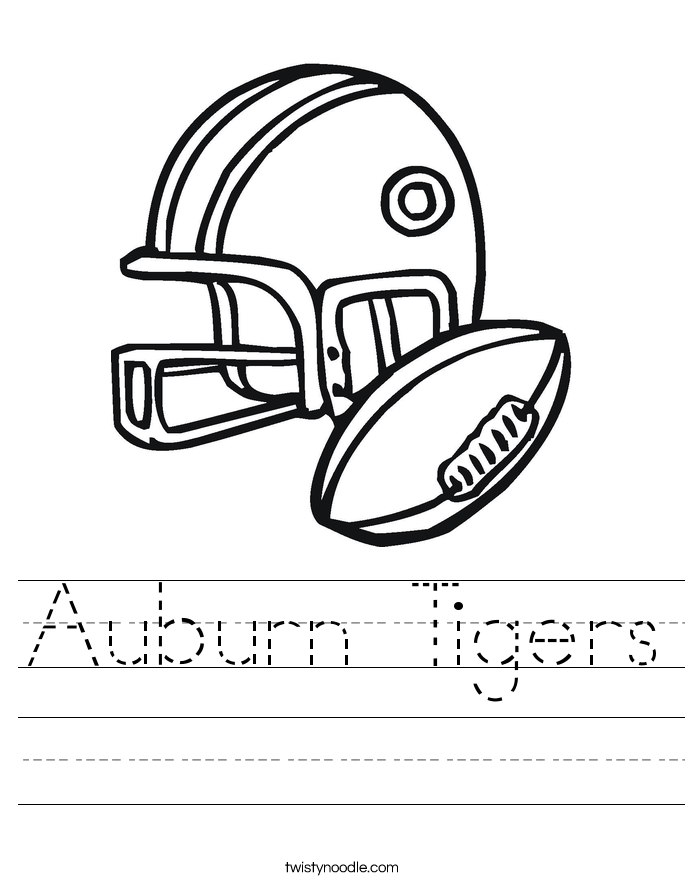 Auburn Tigers Worksheet