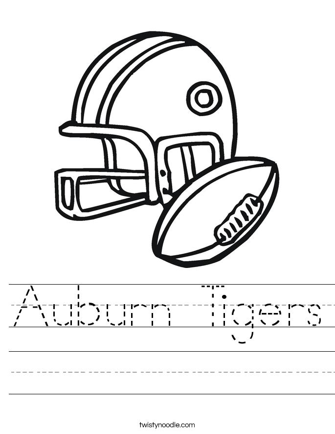 Auburn Tigers Worksheet