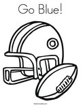Go Blue! Coloring Page
