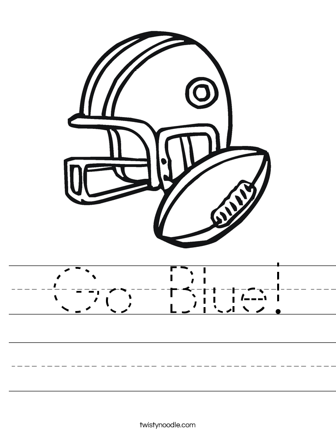 Go Blue! Worksheet